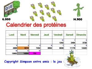 calendrier des proteines