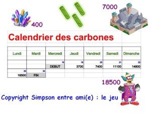 calendrier des carbones