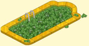 piscine de billets