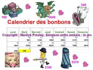 calendrier des bonbons