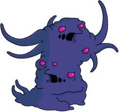 monstre violet