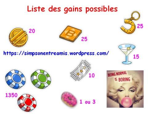 liste gains défis