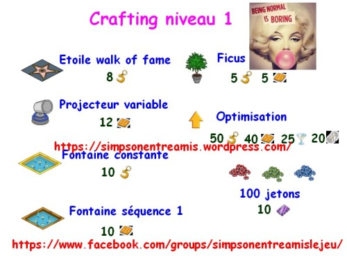 crafting niveau 1