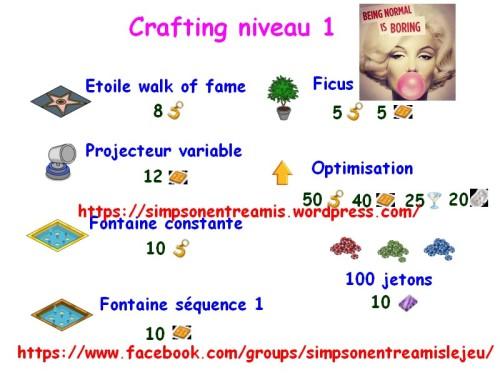 crafting niveau 1