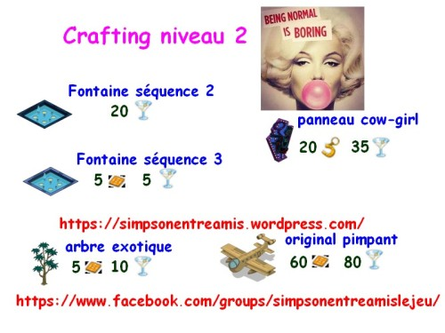 crafting niveau 2