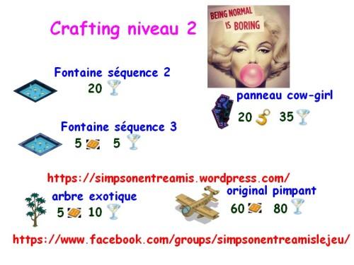 crafting niveau 2