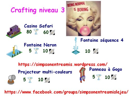 crafting niveau 3