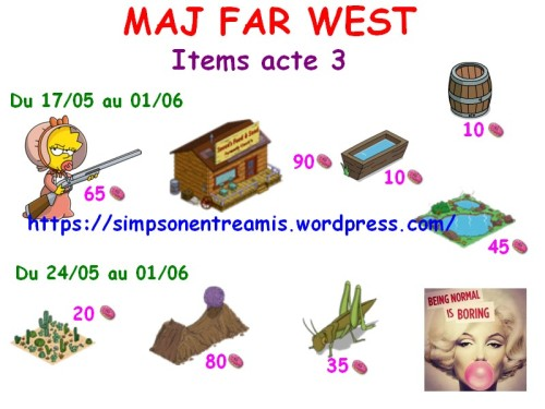 FW items acte 3