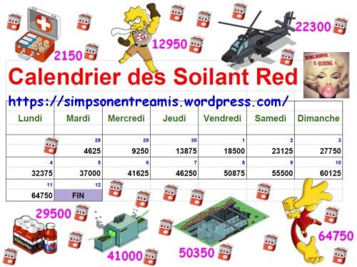 calendrier des soilant red