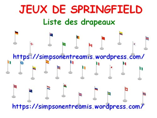liste drapeaux