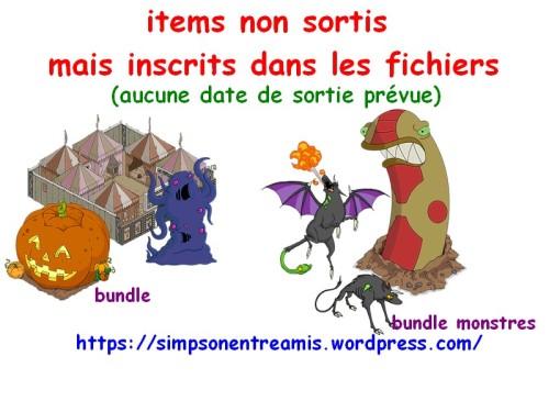 items-non-sortis