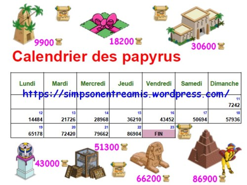 calendrier papyrus