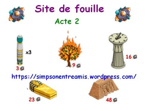 site de fouilles acte 2