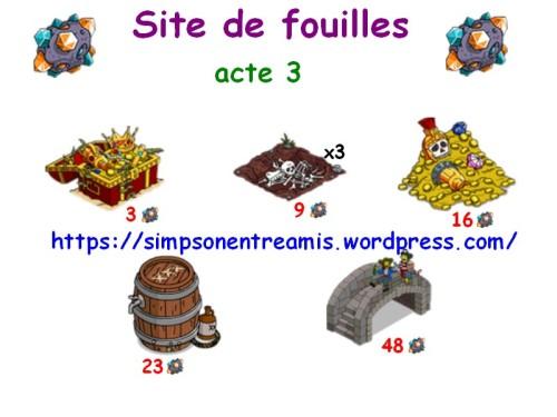 site de fouilles acte 3