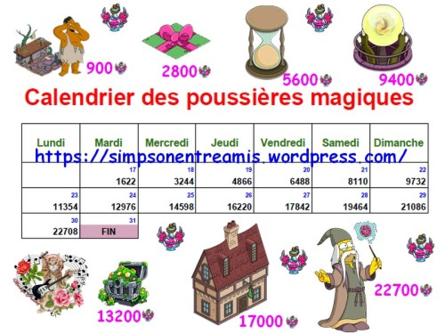 calendrier poussières magiques ok