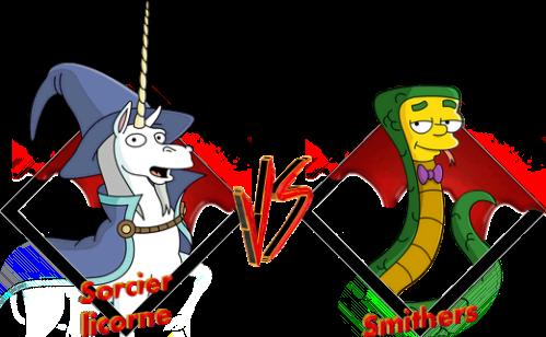 Tournoi Sorcier licorne VS Smithers