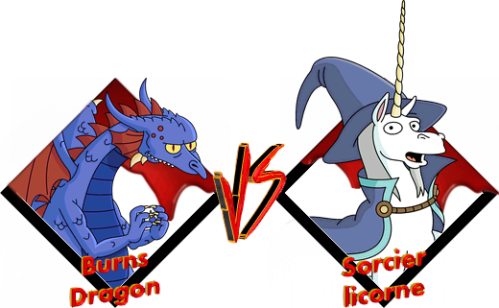 Tournoi Burns Dragon VS Sorcier licorne