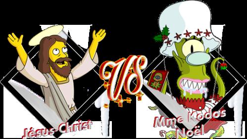 Tournoi Jésus-Christ VS Mme Kodos Noël