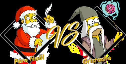 Match Père Noël VS Gristache