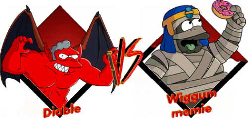 Tournoi Diable VS Wiggum momie