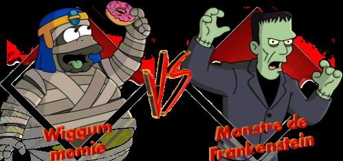 Tournoi Wiggum momie VS Frankenstein
