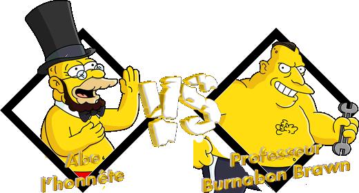 Tournoi Abe l'honnête VS Professeur Burnabon Brawn